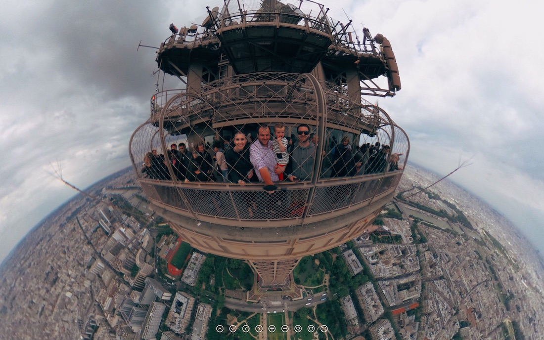 Virtual Reality 360 176 Photo From Top Of Eiffel Tower