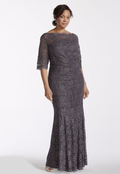 This lovely lace fishtail gown — $189.95