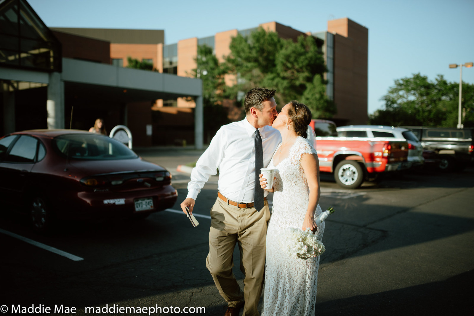 Benson was released after less than 20 minutes in the ER, which means he and his new wife made it back in time for most of their wedding reception.