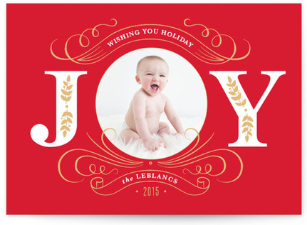 Joyful Photo Holiday Photo Cards